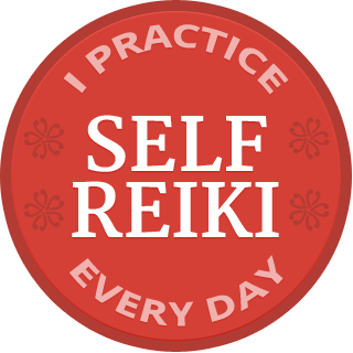 "Self-Reiki | Badge ""I practice Self Reiki every day"""