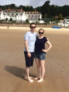 Personal best | Ashleigh and brother on beach