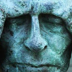 Stone man, holding his head|Reiki for pain|